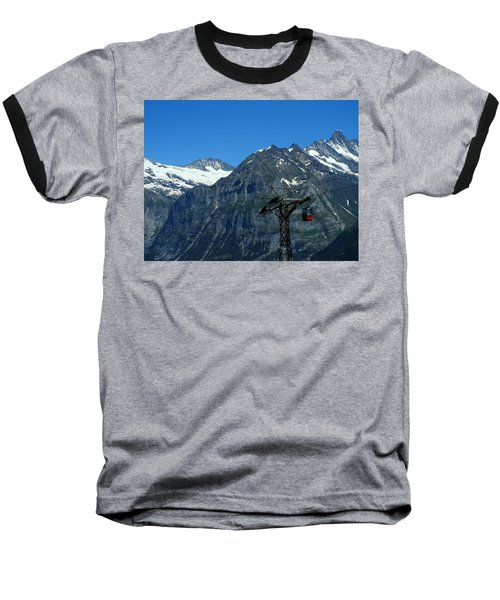Maennlichen Gondola Calbleway, In The Background Mettenberg And Schreckhorn Baseball T-Shirt