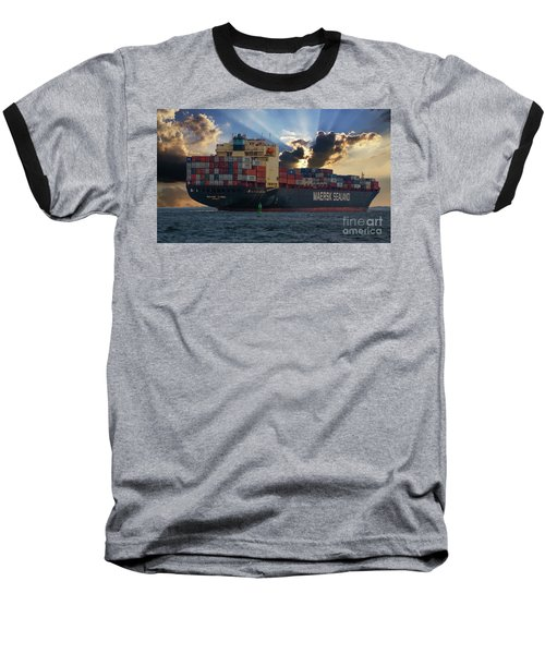 Maersk Sealand Leaving Charleston South Carolina Baseball T-Shirt
