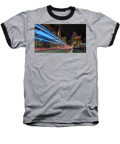 Baseball T-Shirt featuring the photograph Mag Mile Warp Speed by Sean Foster