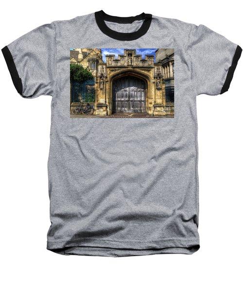 Magdalen College Door - Oxford Baseball T-Shirt