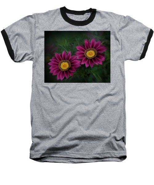 Baseball T-Shirt featuring the photograph Magenta African Daisies by David and Carol Kelly