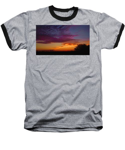 Magenta Morning Sky Baseball T-Shirt