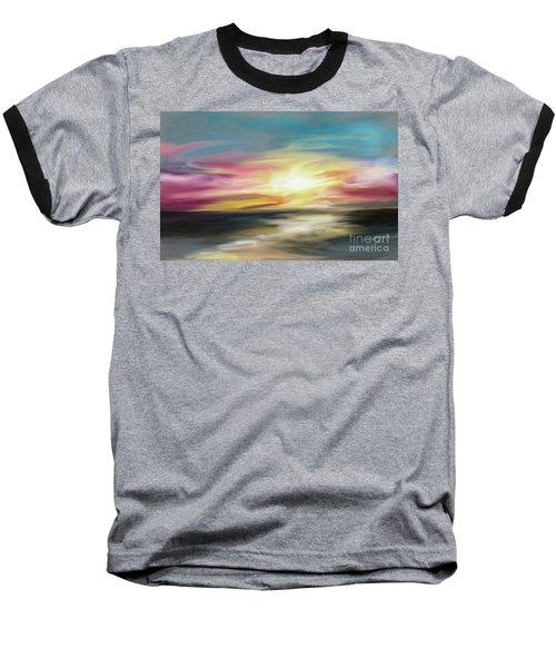 Magenta Sea Baseball T-Shirt