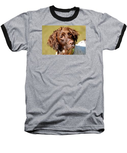 Maggie Head Baseball T-Shirt by Constantine Gregory