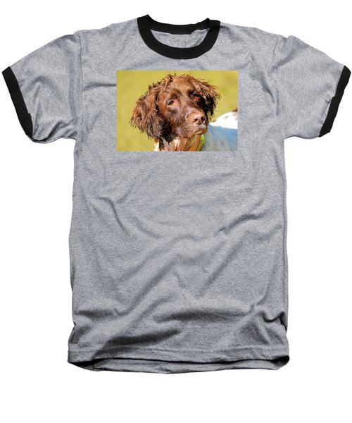 Maggie Head Photo Art Baseball T-Shirt by Constantine Gregory