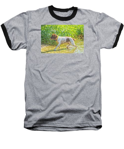 Baseball T-Shirt featuring the photograph Maggie Stride Photo Art by Constantine Gregory