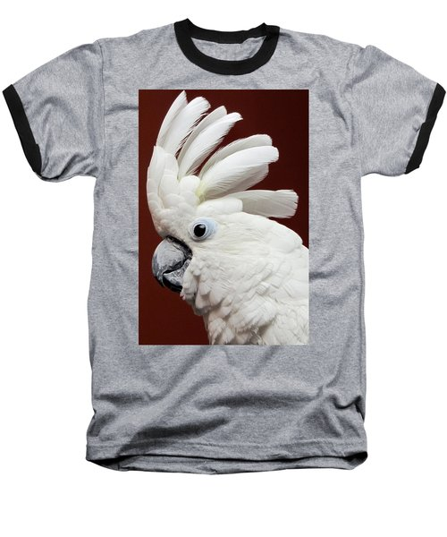 Maggie The Umbrella Cockatoo Baseball T-Shirt
