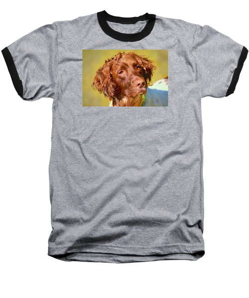 Baseball T-Shirt featuring the photograph Maggie Wc by Constantine Gregory