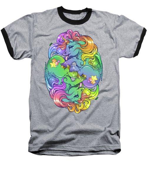 Magial Lesbian Ponies Baseball T-Shirt