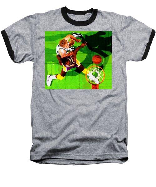 Magic And Bird Baseball T-Shirt by Brian Reaves