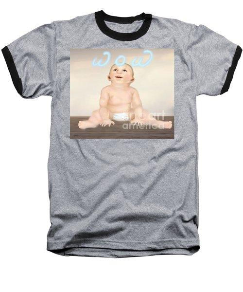 magic baby face-WOW Baseball T-Shirt