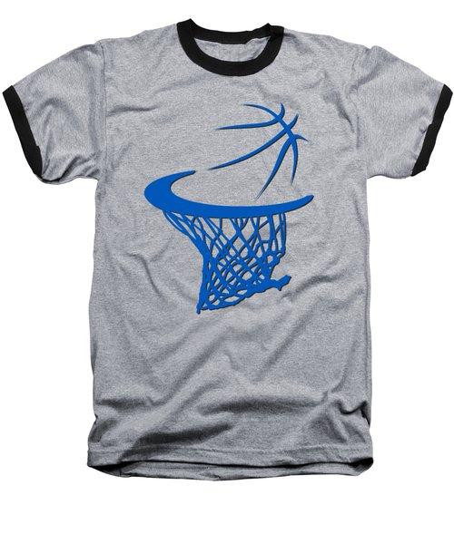 Magic Basketball Hoop Baseball T-Shirt by Joe Hamilton