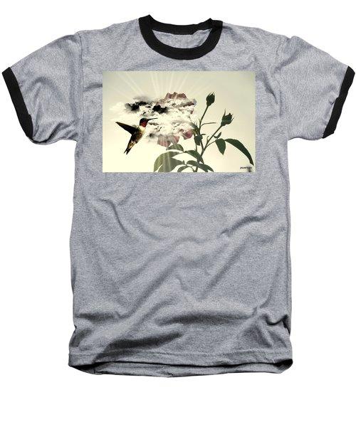 Magic Flower Baseball T-Shirt by Paulo Zerbato