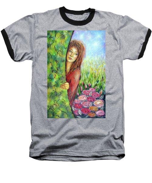 Magic Garden 021108 Baseball T-Shirt by Selena Boron