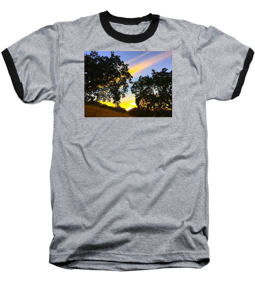 Magic Hour Sunset Baseball T-Shirt