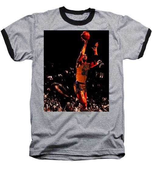 Magic Johnson Lean Back II Baseball T-Shirt by Brian Reaves