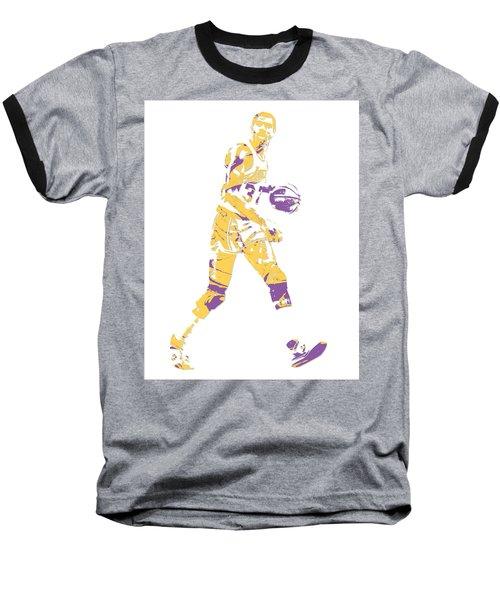 Magic Johnson Los Angeles Lakers Pixel Art 5 Baseball T-Shirt