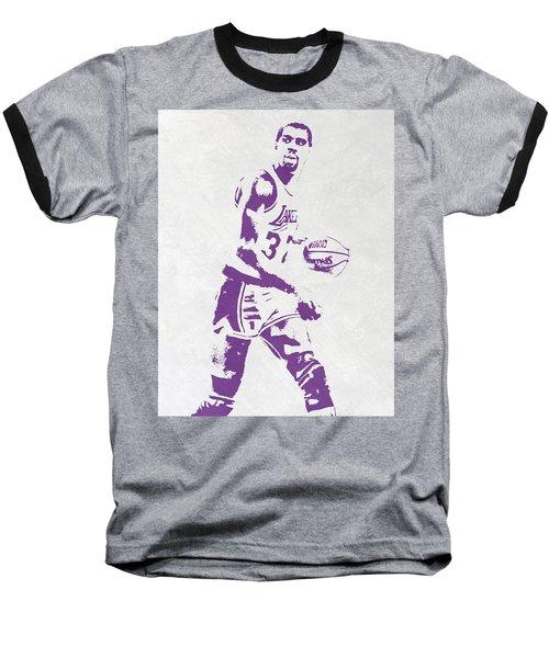 Magic Johnson Los Angeles Lakers Pixel Art Baseball T-Shirt