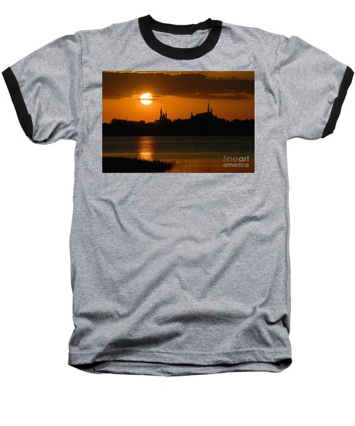 Magic Kingdom Sunset Baseball T-Shirt