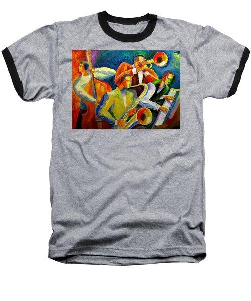 Magic Music Baseball T-Shirt by Leon Zernitsky