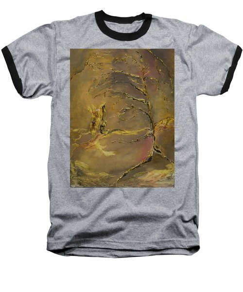 Baseball T-Shirt featuring the mixed media Magic by Nadine Dennis