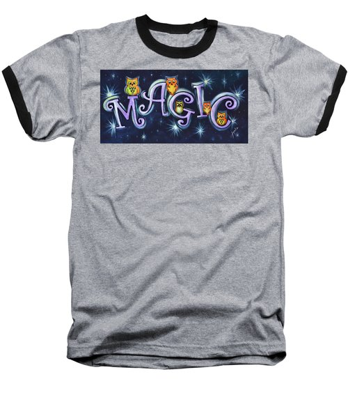 Magic With Owls Baseball T-Shirt