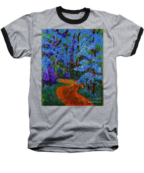 Magical Blue Forest Baseball T-Shirt
