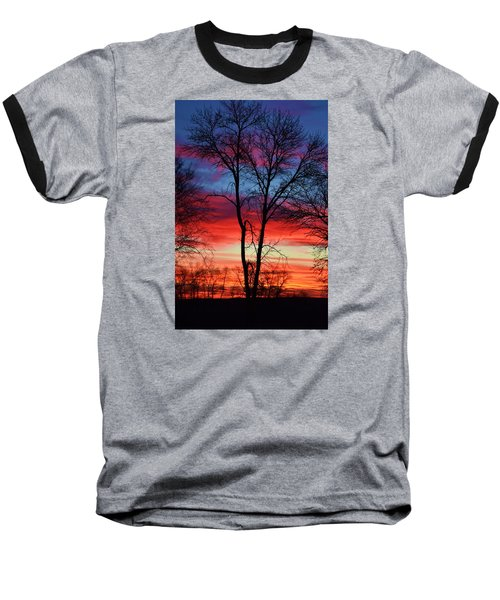 Magical Colors In The Sky Baseball T-Shirt by Dacia Doroff