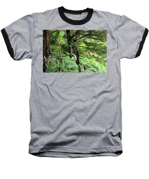 Magical Forest Baseball T-Shirt by Aidan Moran