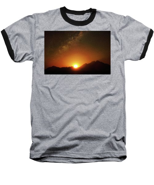 Magical Milkyway Above The African Mountains Baseball T-Shirt