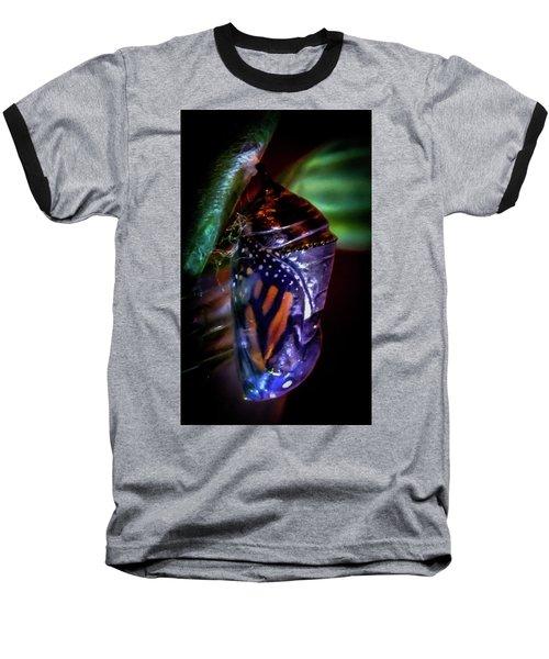 Magical Monarch Baseball T-Shirt by Karen Wiles