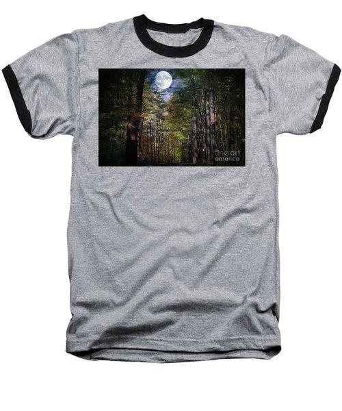 Magical Moonlit Forest Baseball T-Shirt