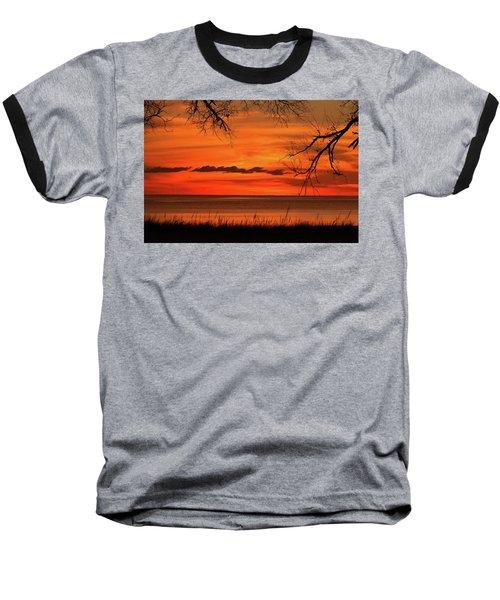 Magical Orange Sunset Sky Baseball T-Shirt