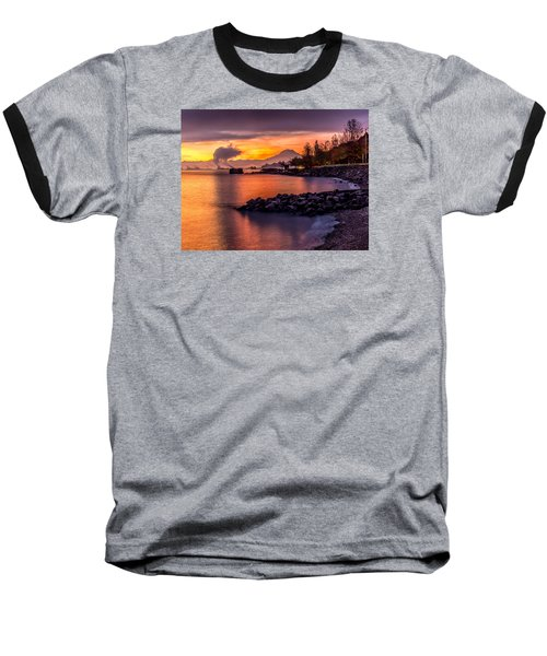 Magical Sunrise On Commencement Bay Baseball T-Shirt by Rob Green
