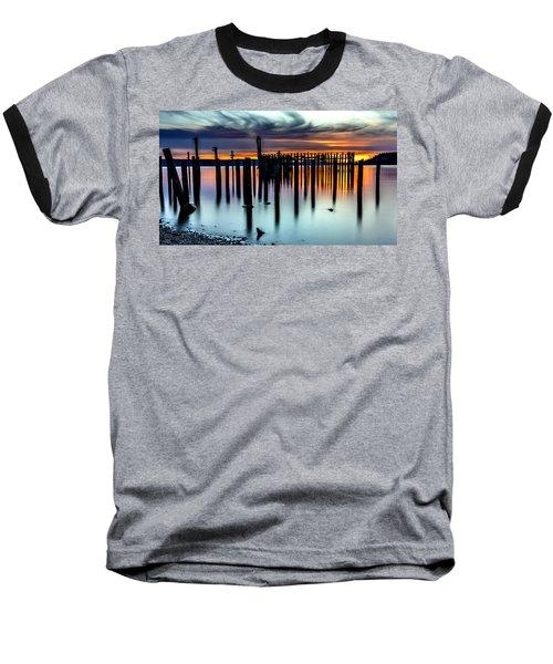 Magical Sunset Titlow Beach Tacoma Wa Baseball T-Shirt