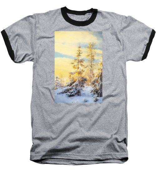 Baseball T-Shirt featuring the photograph Magical Winter Landscape by Rose-Maries Pictures