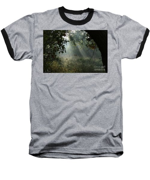 Magical Woodland Lighting Baseball T-Shirt