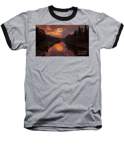 Magnificent Clouds Over Rogue River Oregon At Sunset  Baseball T-Shirt