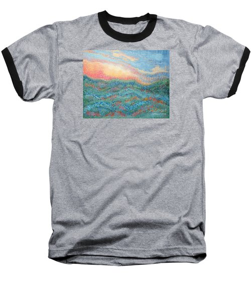 Magnificent Sunset Baseball T-Shirt by Holly Carmichael