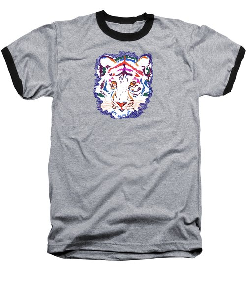 Baseball T-Shirt featuring the digital art Magnificent Tiger by Mary Armstrong