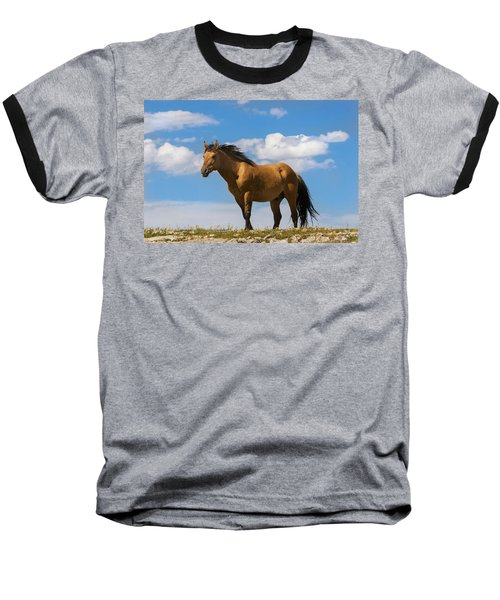 Magnificent Wild Horse Baseball T-Shirt