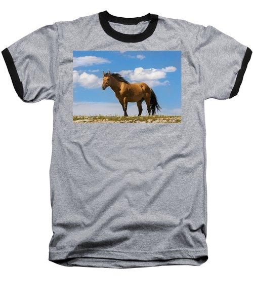 Magnificent Wild Horse Baseball T-Shirt