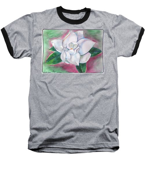 Magnolia 2 Baseball T-Shirt by Loretta Nash