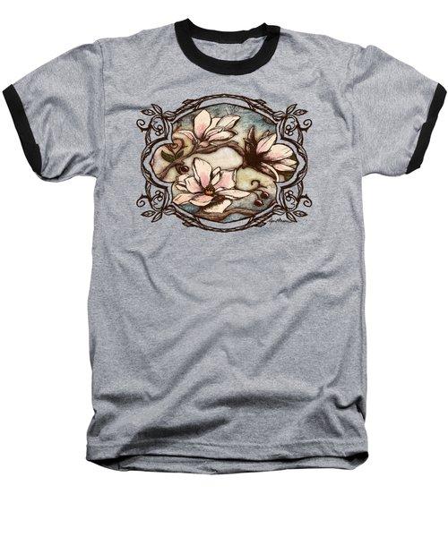 Magnolia Branch II Baseball T-Shirt by April Moen