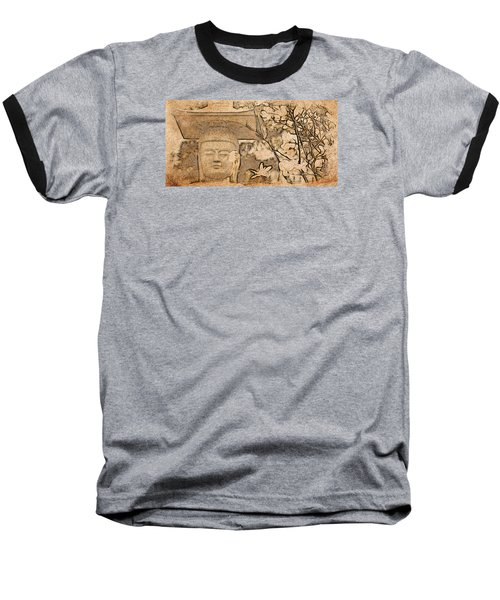 Magnolia Buddha Baseball T-Shirt
