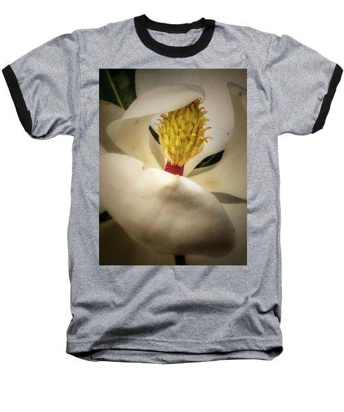 Magnolia Flower Baseball T-Shirt