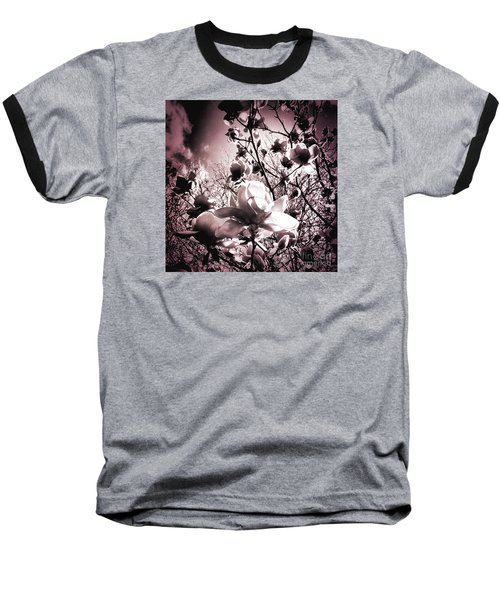 Magnolia Pink Baseball T-Shirt by Karen Lewis