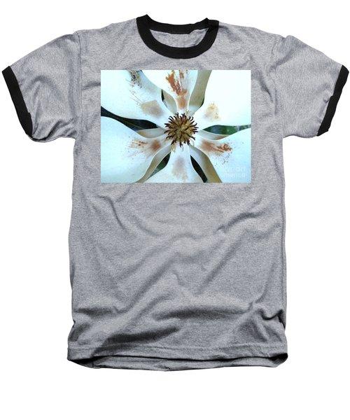Magnolia Pinwheel Baseball T-Shirt by Nancy Kane Chapman
