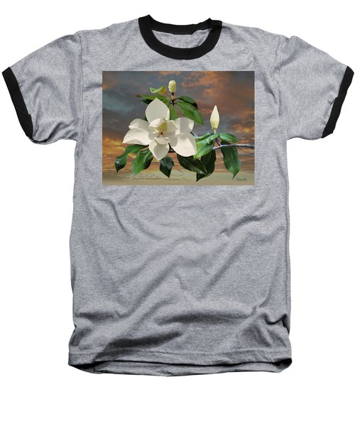 Magnolia Sunset Baseball T-Shirt