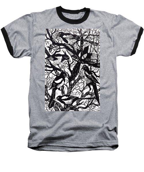 Magpies Baseball T-Shirt by Nat Morley